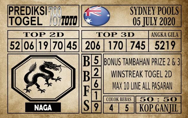Prediksi Sydney Pools Hari Ini 05 Juli 2020