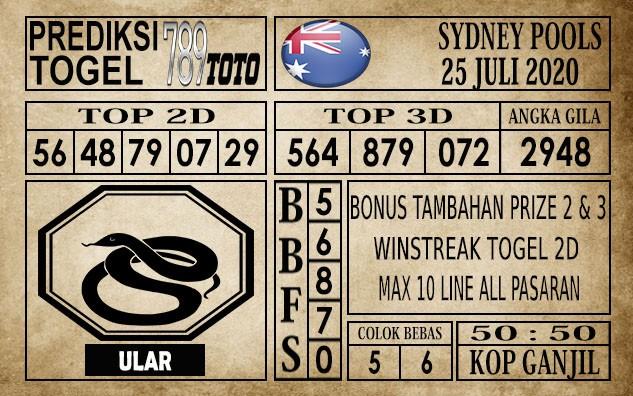 Prediksi Sydney Pools Hari Ini 25 Juli 2020