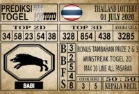 Prediksi Thailand Lottery Hari Ini 01 Juli 2020