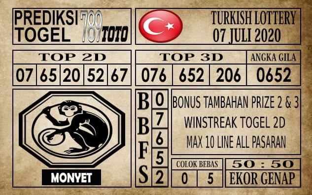 Prediksi Turkish Lottery Hari Ini 07 Juli 2020