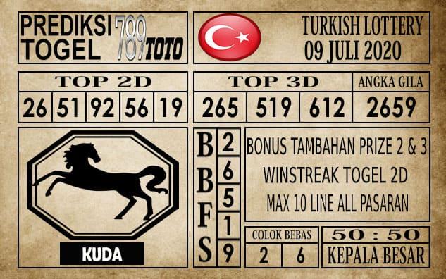 Prediksi Turkish Lottery Hari Ini 09 Juli 2020