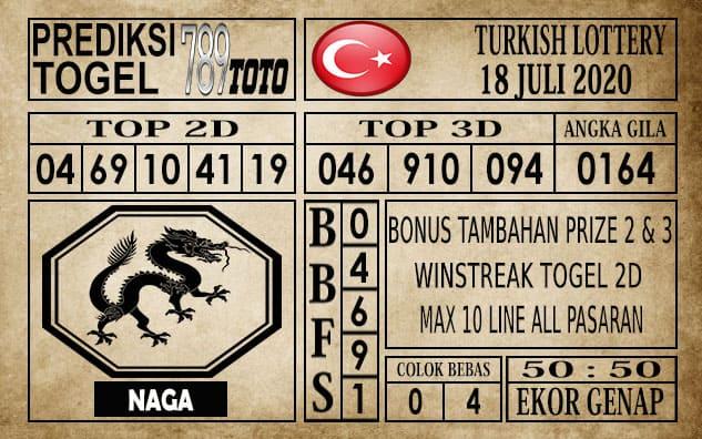 Prediksi Turkish Lottery Hari Ini 18 Juli 2020