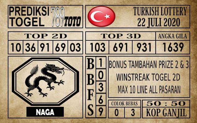 Prediksi Turkish Lottery Hari Ini 22 Juli 2020