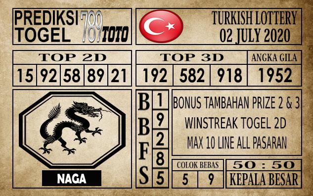 Prediksi Turkish Lottery Hari Ini 02 Juli 2020