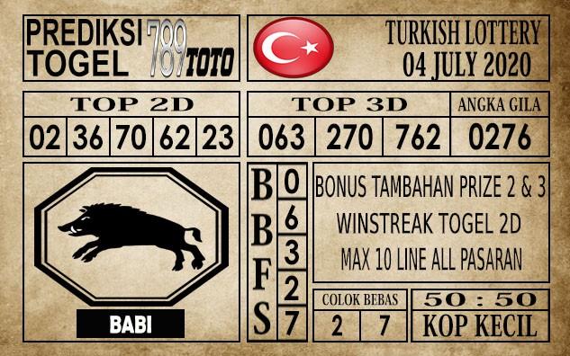 Prediksi Turkish Lottery Hari Ini 04 Juli 2020