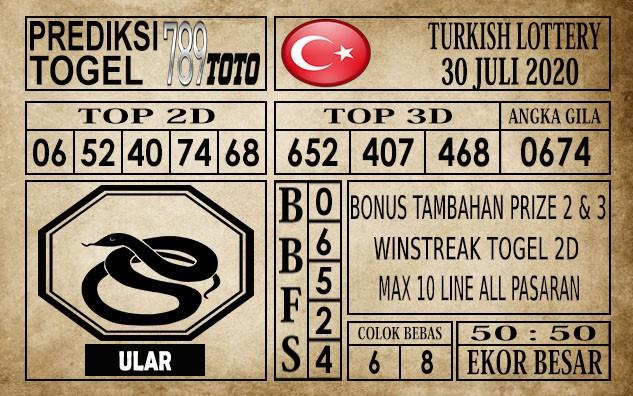 Prediksi Turkish Lottery Hari Ini 30 Juli 2020