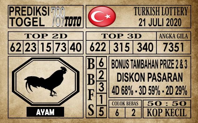 Prediksi Turkish Lottery Hari Ini 21 Juli 2020