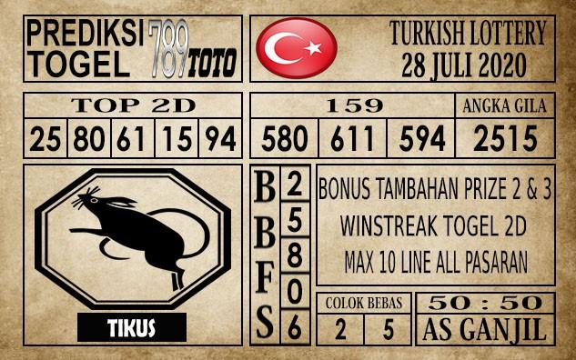 Prediksi Turkish Lottery Hari Ini 28 Juli 2020