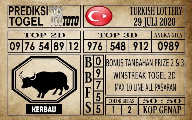 Prediksi Turkish Lottery Hari Ini 29 Juli 2020