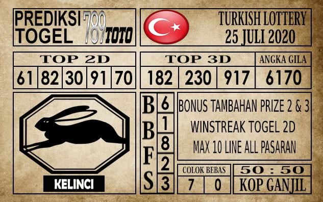 Prediksi Turkish Lottery Hari Ini 25 Juli 2020