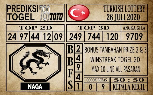 Prediksi Turkish Lottery Hari Ini 26 Juli 2020