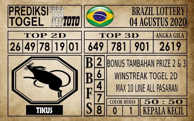 Prediksi Brazil Lottery Hari Ini 04 Agustus 2020