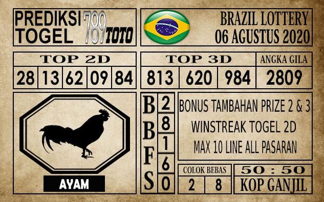 Prediksi Brazil Lottery Hari Ini 06 Agustus 2020