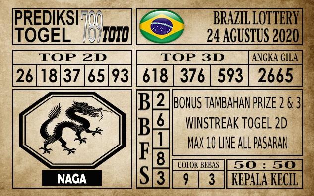 Prediksi Brazil Lottery Hari Ini 24 Agustus 2020