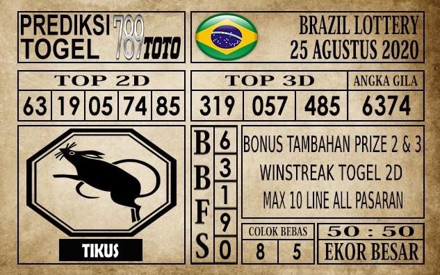 Prediksi Brazil Lottery Hari Ini 25 Agustus 2020
