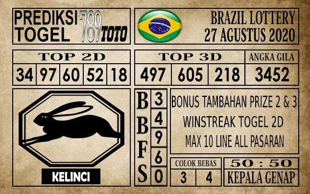 Prediksi Brazil Lottery Hari Ini 27 Agustus 2020