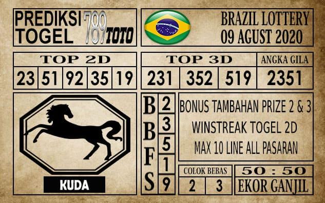 Prediksi Brazil Lottery Hari Ini 09 Agustus 2020