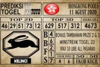 Prediksi Hongkong Pools Hari Ini 11 Agustus 2020