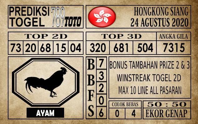Prediksi Hongkong Siang Hari Ini 24 Agustus 2020