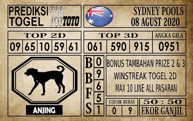 Prediksi Sydney Pools Hari Ini 08 Agustus 2020
