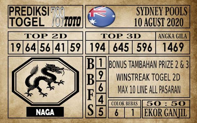 Prediksi Sydney Pools Hari Ini 10 Agustus 2020