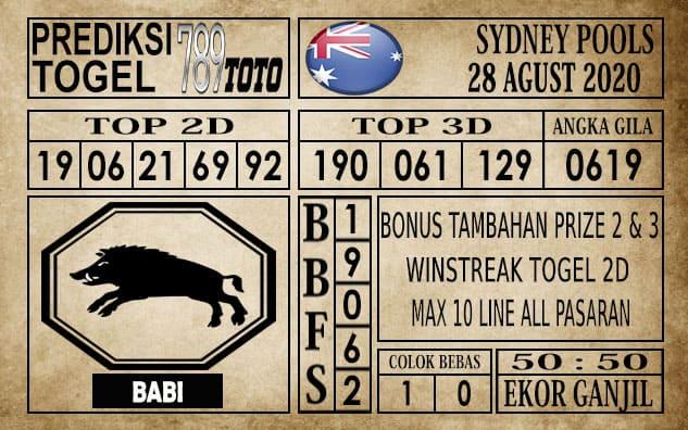 Prediksi Sydney Pools Hari Ini 28 Agustus 2020