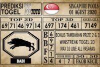 Prediksi Singapore Pools Hari ini 01 Agustus 2020