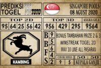 Prediksi Singapore Pools Hari ini 08 Agustus 2020