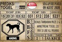 Prediksi Singapore Pools Hari ini 09 Agustus 2020