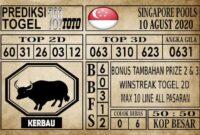 Prediksi Singapore Pools Hari ini 10 Agustus 2020