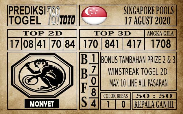 Prediksi Singapore Pools Hari ini 17 Agustus 2020