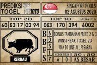 Prediksi Singapore Pools Hari ini 02 Agustus 2020