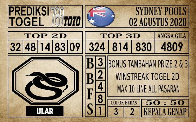 Prediksi Sydney Pools Hari Ini 02 Agustus 2020