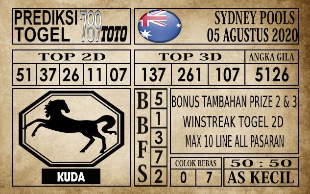 Prediksi Sydney Pools Hari Ini 05 Agustus 2020