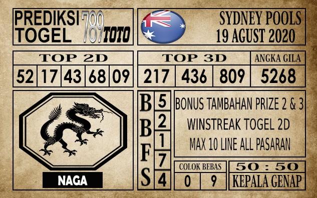 Prediksi Sydney Pools Hari Ini 19 Agustus 2020