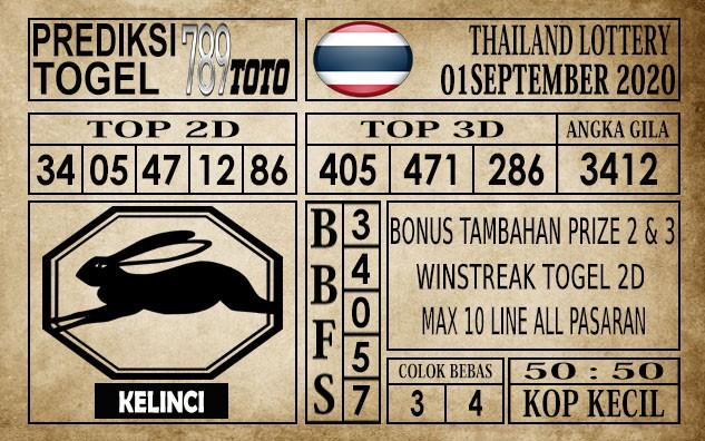 Prediksi Thailand Lottery Hari Ini 01 September 2020