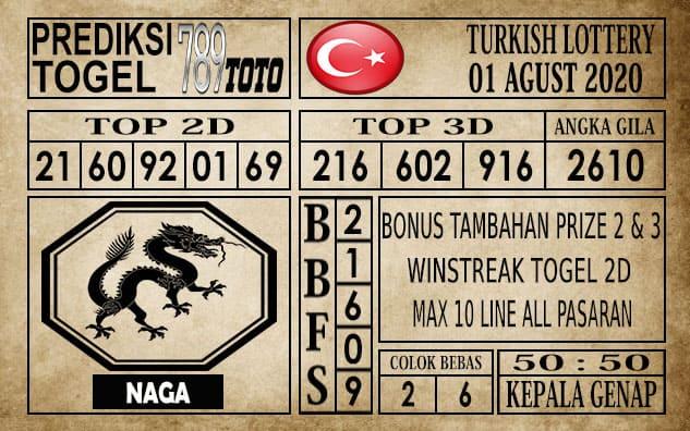 Prediksi Turkish Lottery Hari Ini 01 Agustus 2020