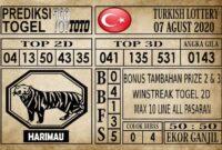Prediksi Turkish Lottery Hari Ini 07 Agustus 2020