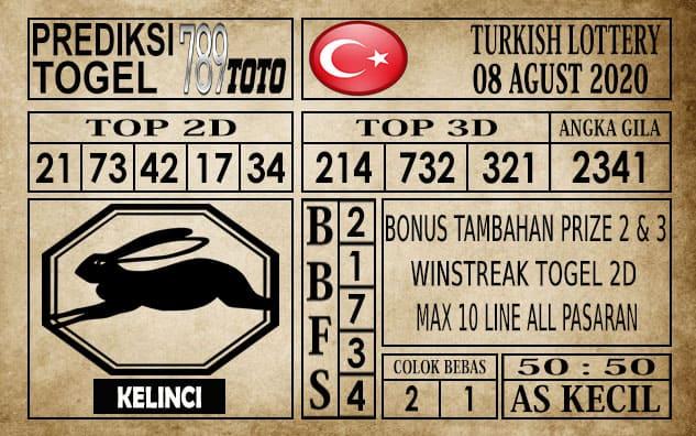 Prediksi Turkish Lottery Hari Ini 08 Agustus 2020