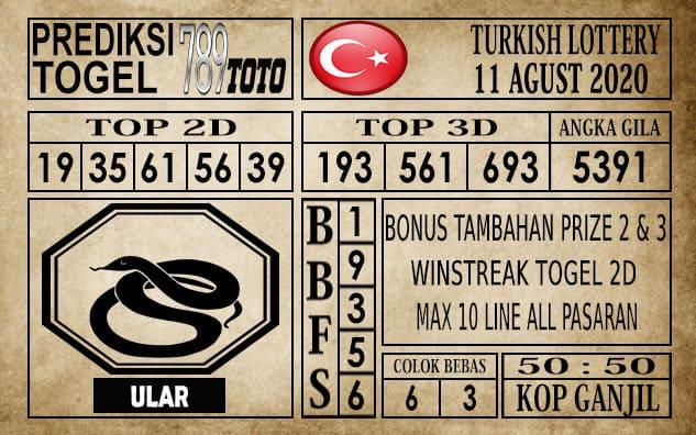 Prediksi Turkish Lottery Hari Ini 11 Agustus 2020