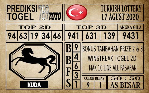 Prediksi Turkish Lottery Hari Ini 17 Agustus 2020