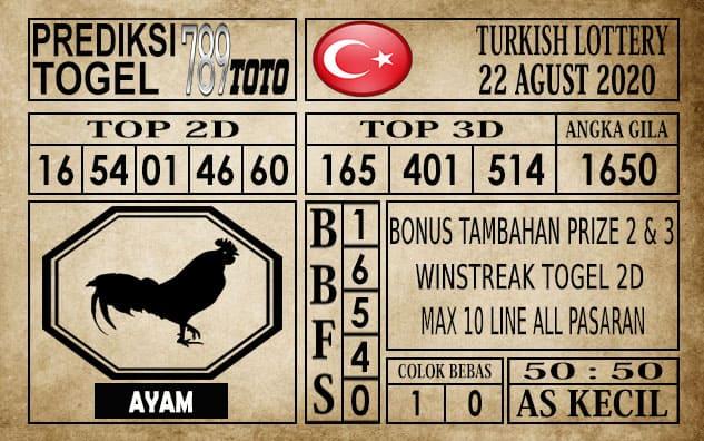 Prediksi Turkish Lottery Hari Ini 22 Agustus 2020