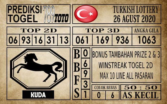 Prediksi Turkish Lottery Hari Ini 26 Agustus 2020