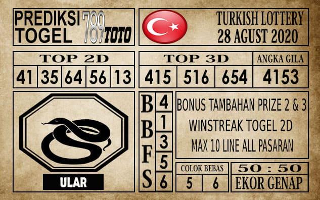 Prediksi Turkish Lottery Hari Ini 28 Agustus 2020