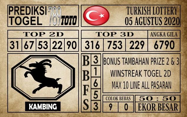 Prediksi Turkish Lottery Hari Ini 05 Agustus 2020