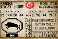 Prediksi Turkish Lottery Hari Ini 06 Agustus 2020