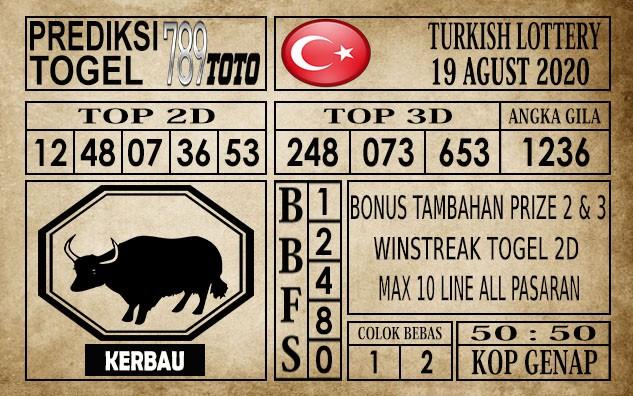 Prediksi Turkish Lottery Hari Ini 19 Agustus 2020