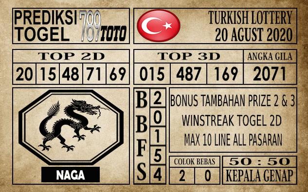 Prediksi Turkish Lottery Hari Ini 20 Agustus 2020