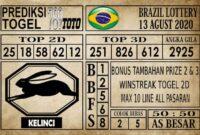 Prediksi Brazil Lottery Hari Ini 13 Agustus 2020