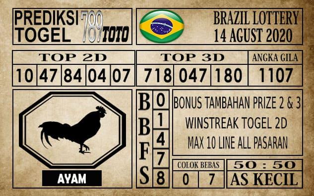 Prediksi Brazil Lottery Hari Ini 14 Agustus 2020